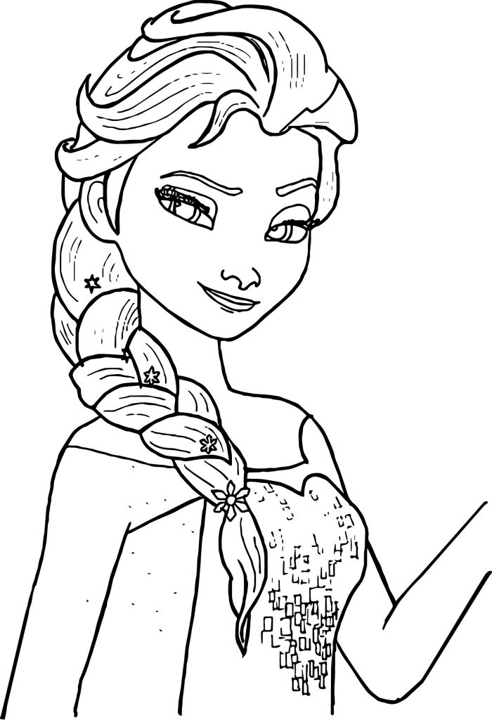 Elsa Anna Coloring Pages