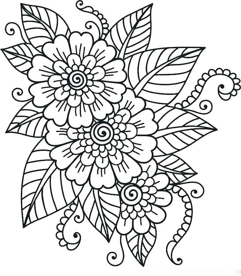 Exotic Flowers Coloring Pages