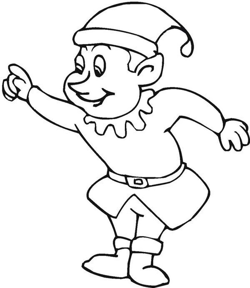 Fairy And Elf Coloring Pages