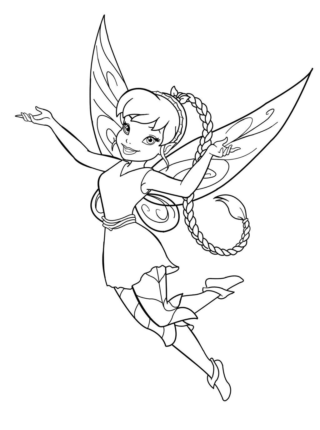 Fairy Coloring Page Printable