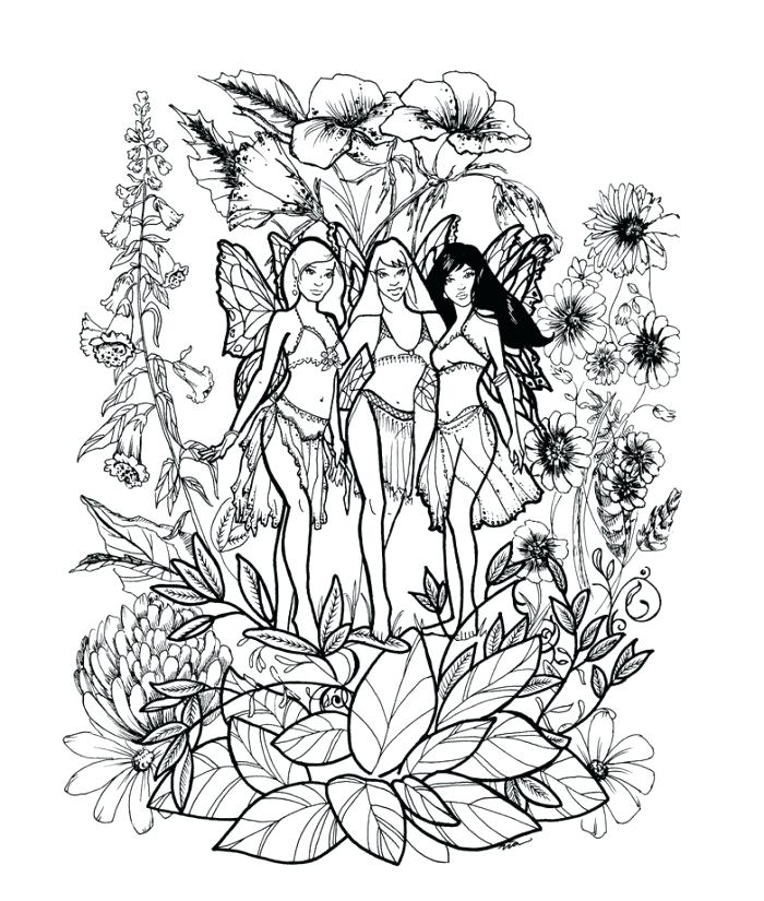 Fairy Coloring Pages Easy