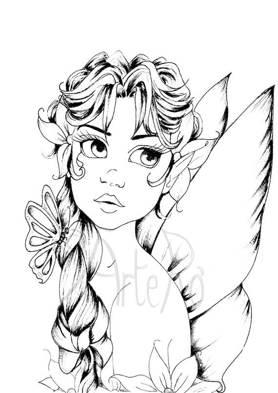 Fairy Coloring Pages Pdf