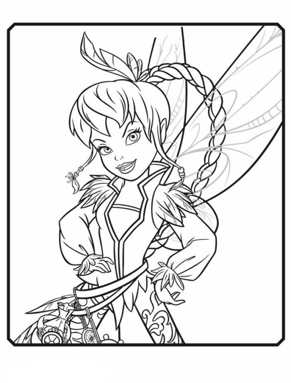 Fairy Coloring Pages Pinterest