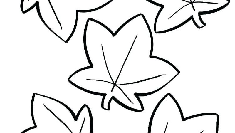 Fall Leaf Coloring Pages Printable
