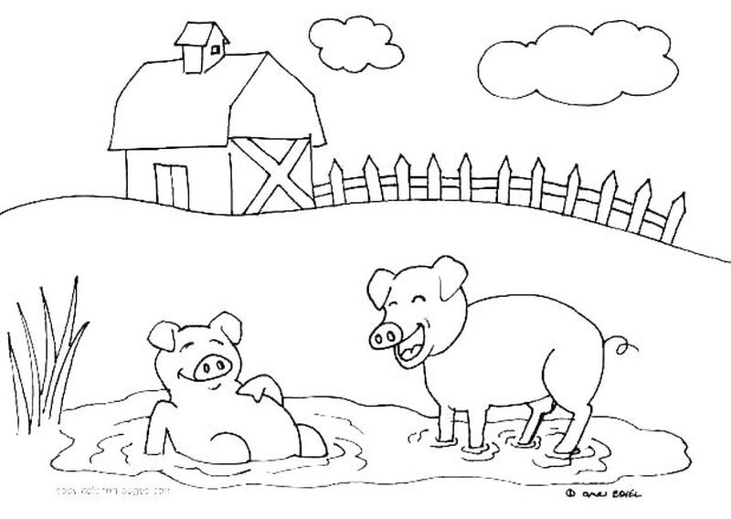 Farm Animals Coloring Pages Pdf