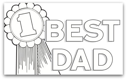 Fathers Day Certificate Coloring Page
