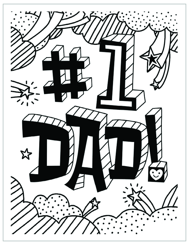 Fathers Day Coloring Page For Church