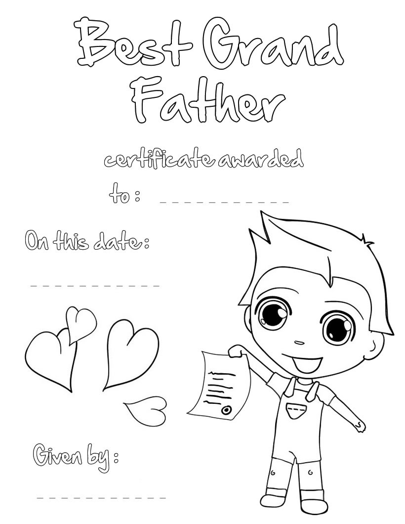 Fathers Day Coloring Pages For Adults