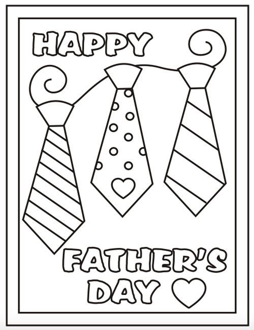 Fathers Day Coloring Pages Free Printable
