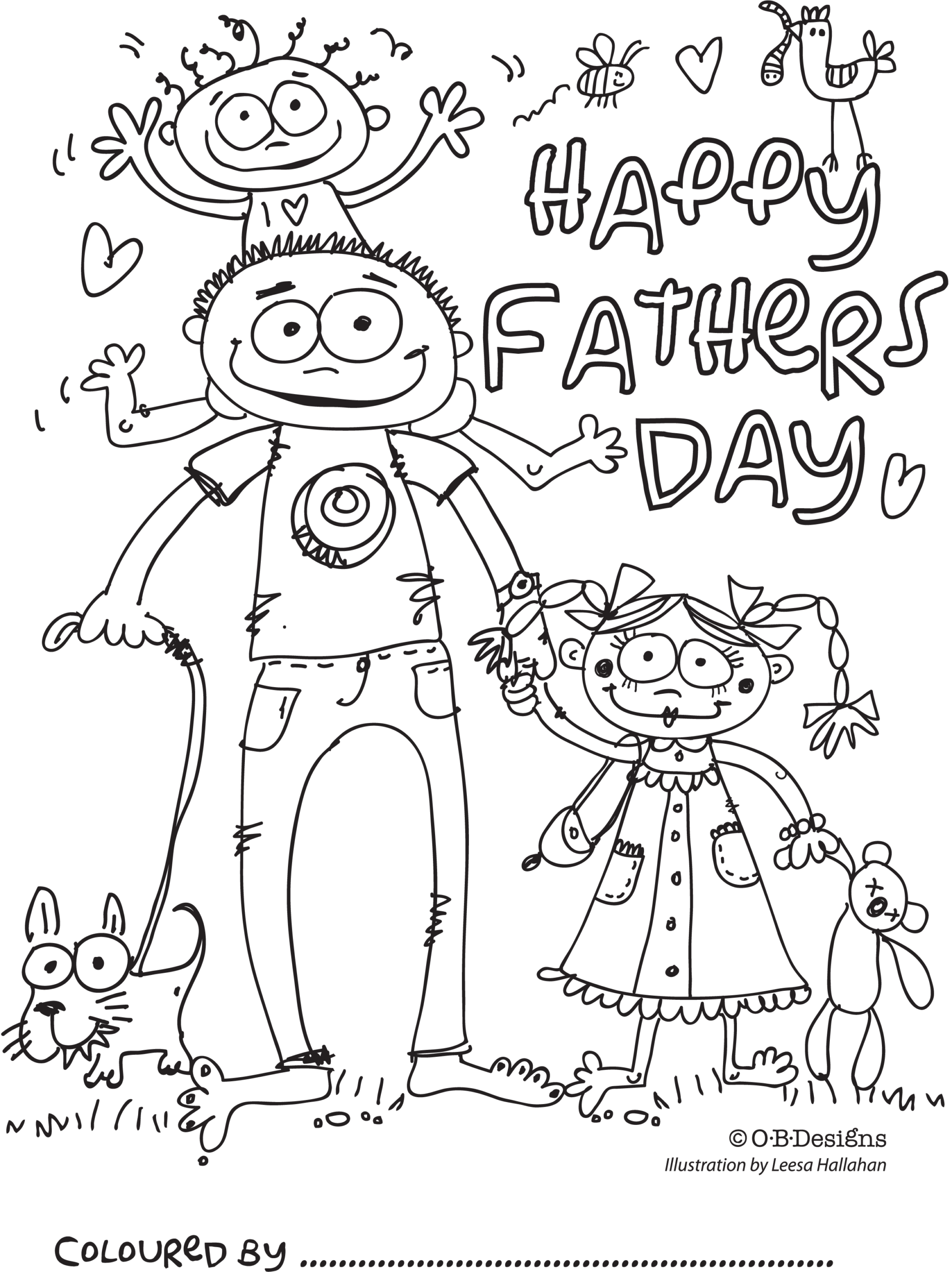 Fathers Day Coloring Pages Pdf