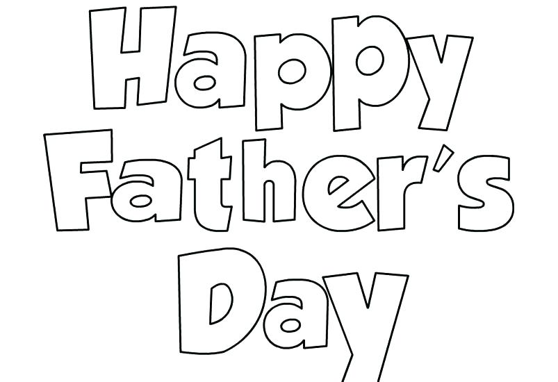 Fathers Day Sunday School Coloring Pages