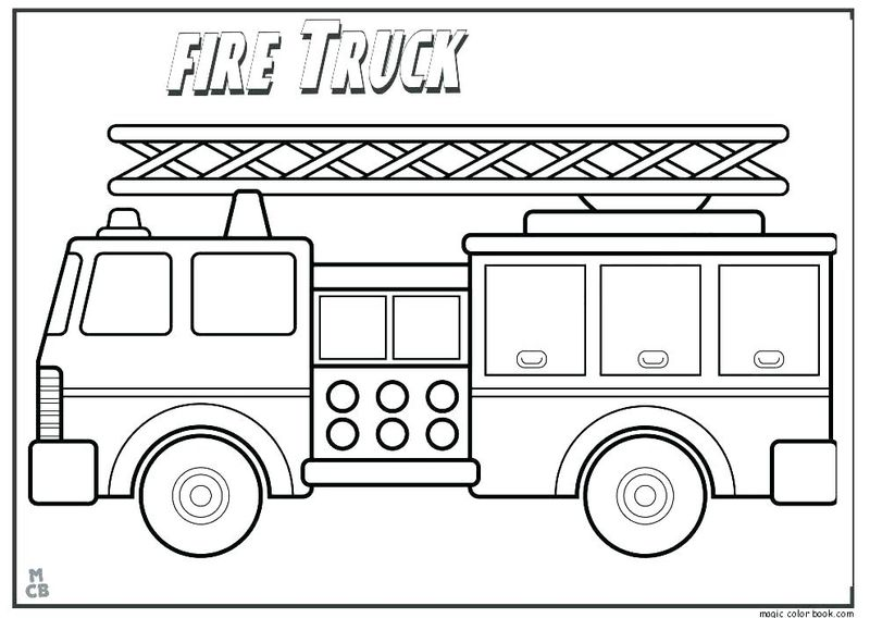Fire Engine Coloring Pages Free