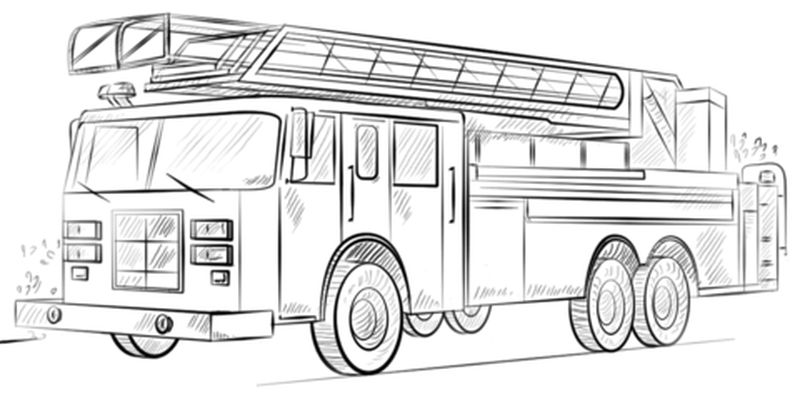 Fire Engine Coloring Pages Printable