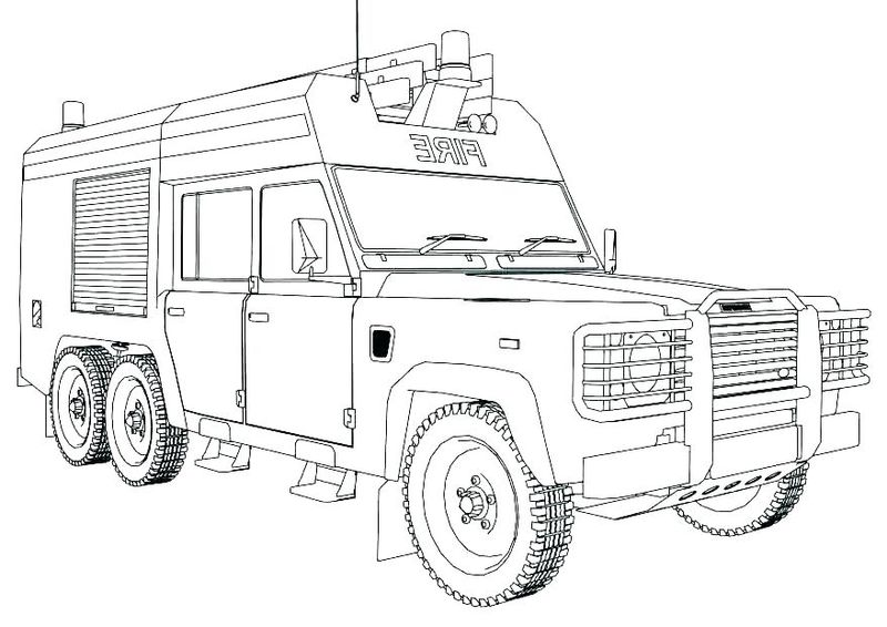 Fire Engine Coloring Pages To Print