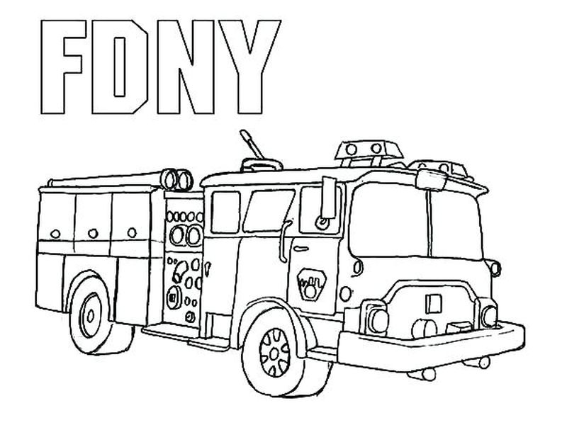 Fire Engine Colouring Pages Printable