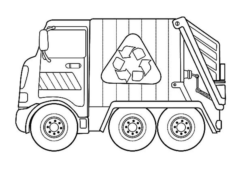 Fire Truck Coloring Pages 1