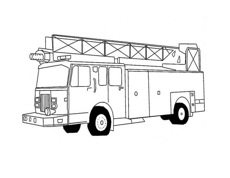 Fire Truck Coloring Pages Pdf