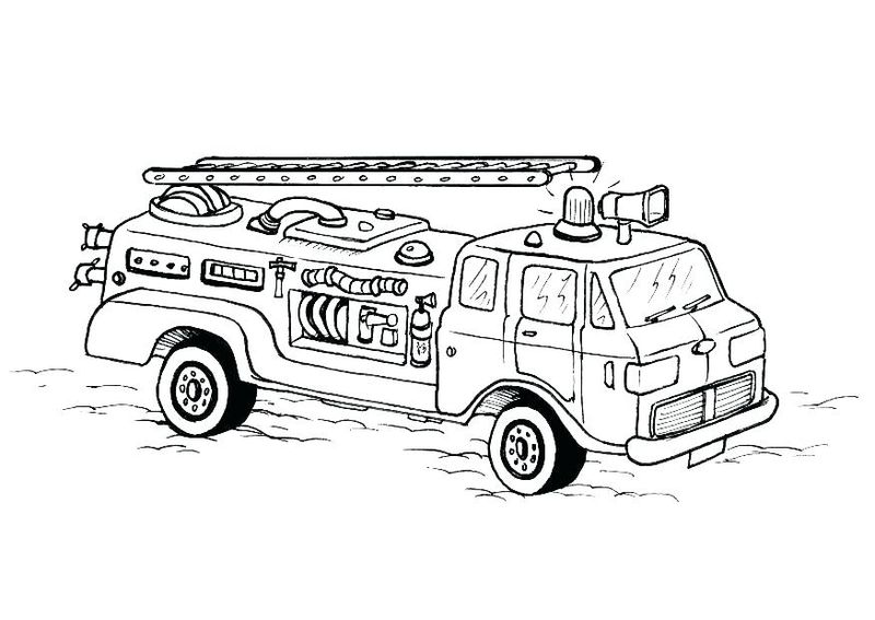 Fire Truck Coloring Pages Printable Free