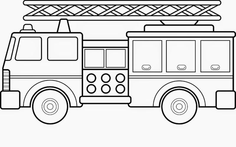 Fire Truck Coloring Sheets Printable