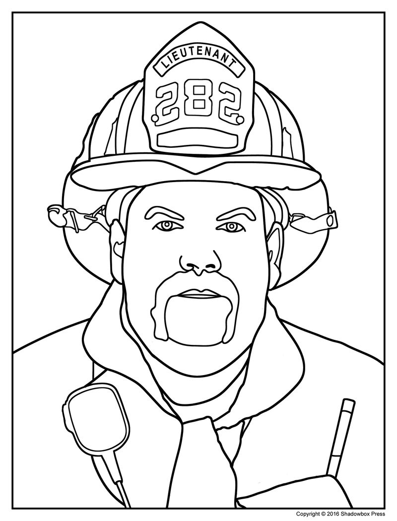 Firefighter Coloring Page Free