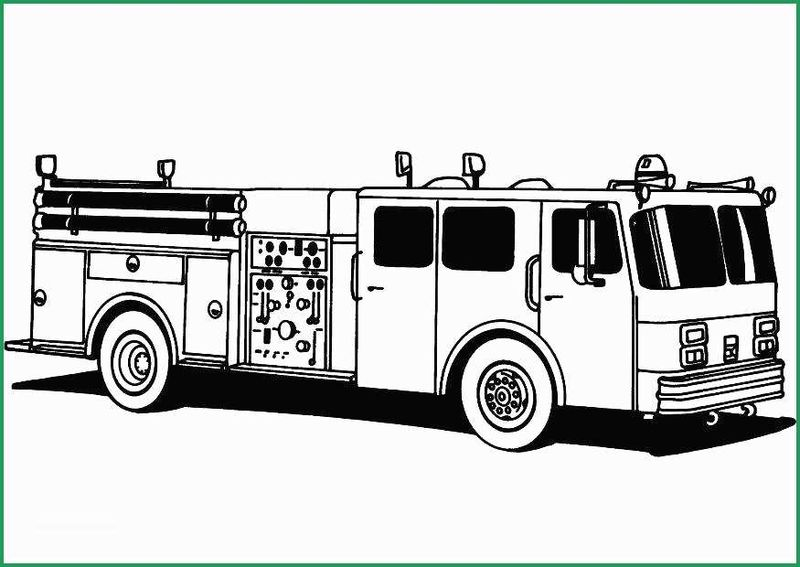 Firefighter Coloring Page Pdf