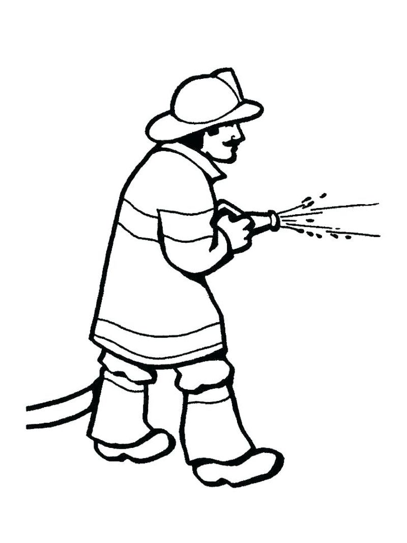 Firefighter Coloring Page Printable