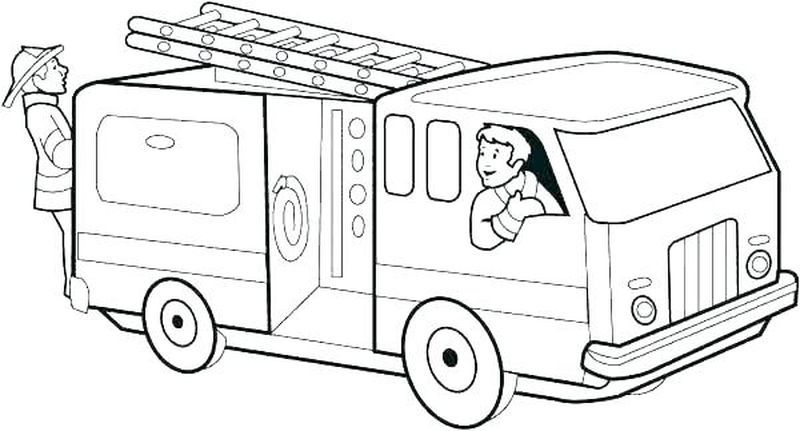 Firefighter Coloring Pages For Adults