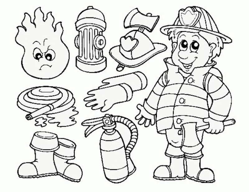 Firefighter Coloring Pages For Kindergarten