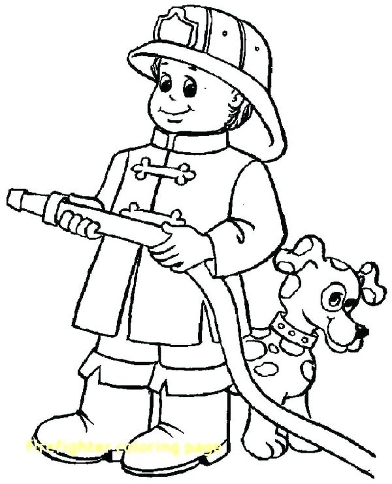 Firefighter Coloring Pages For Preschoolers