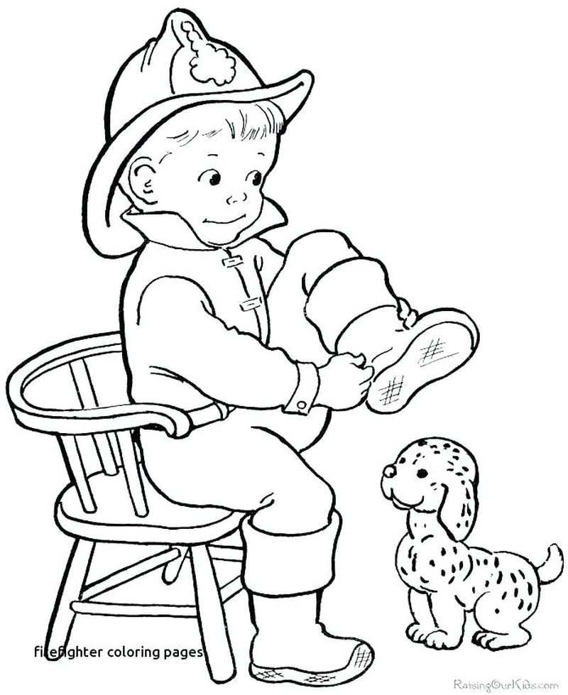 Fireman Coloring Pages For Preschoolers