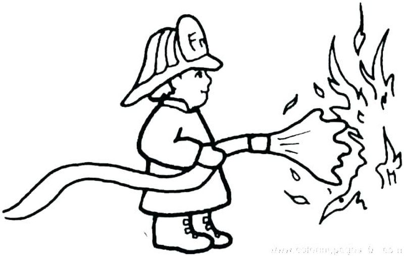 Fireman Coloring Pages Free Printable