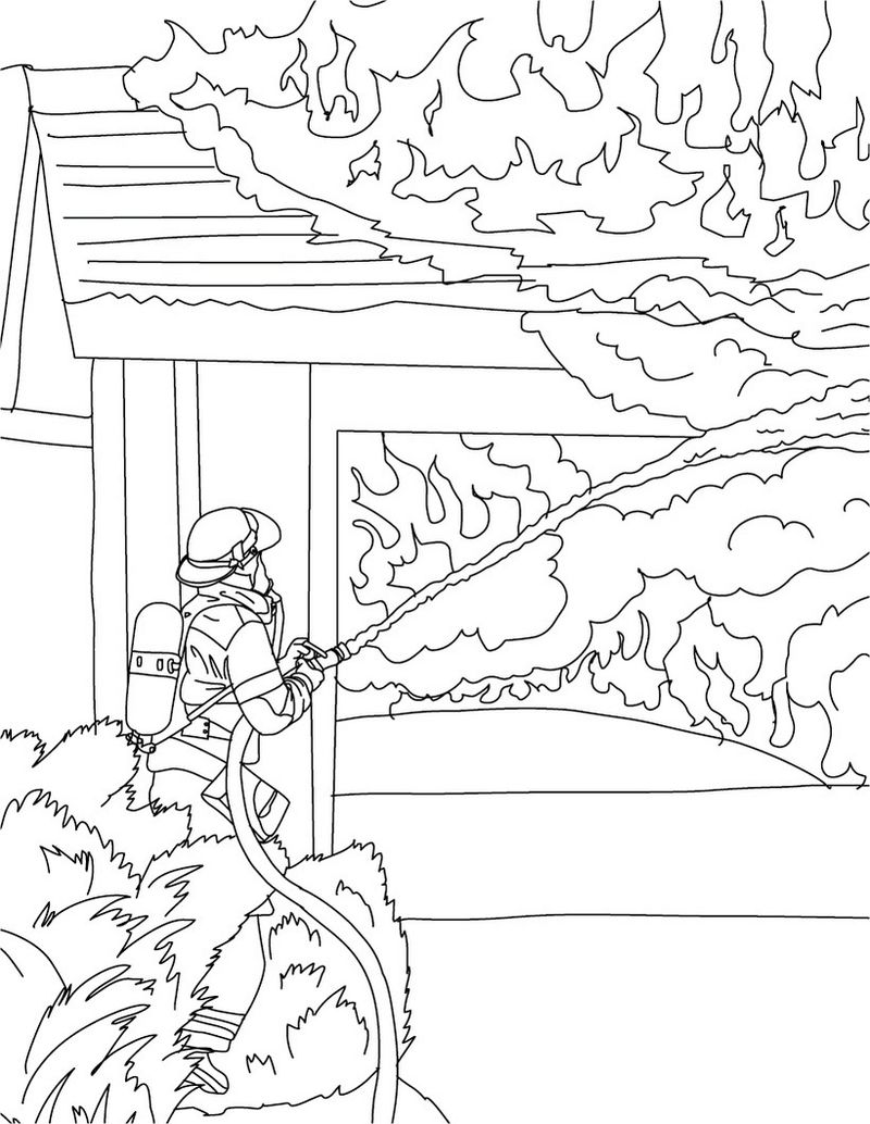 Fireman Coloring Pages Pdf