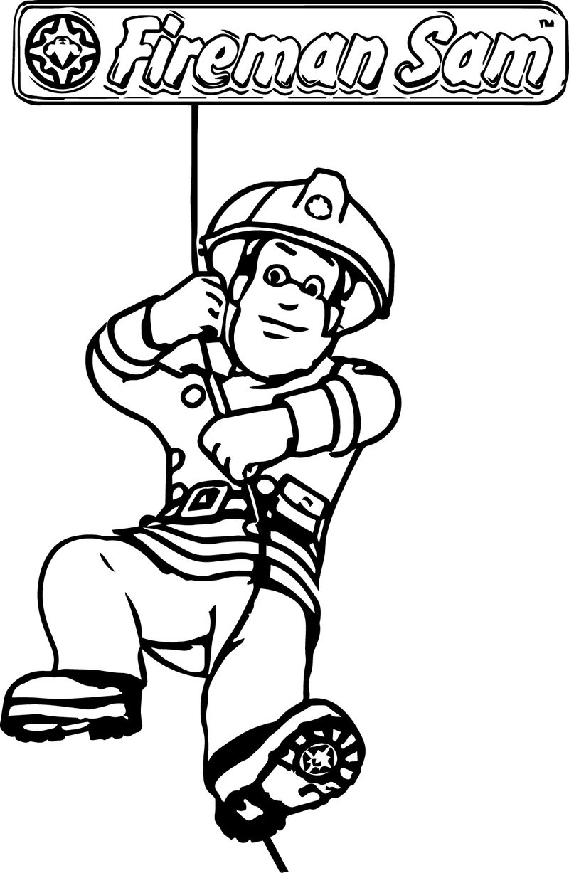 Fireman Coloring Pages To Print