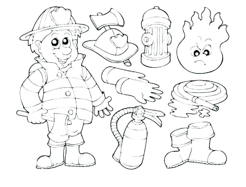 Fireman Colouring Pages Uk