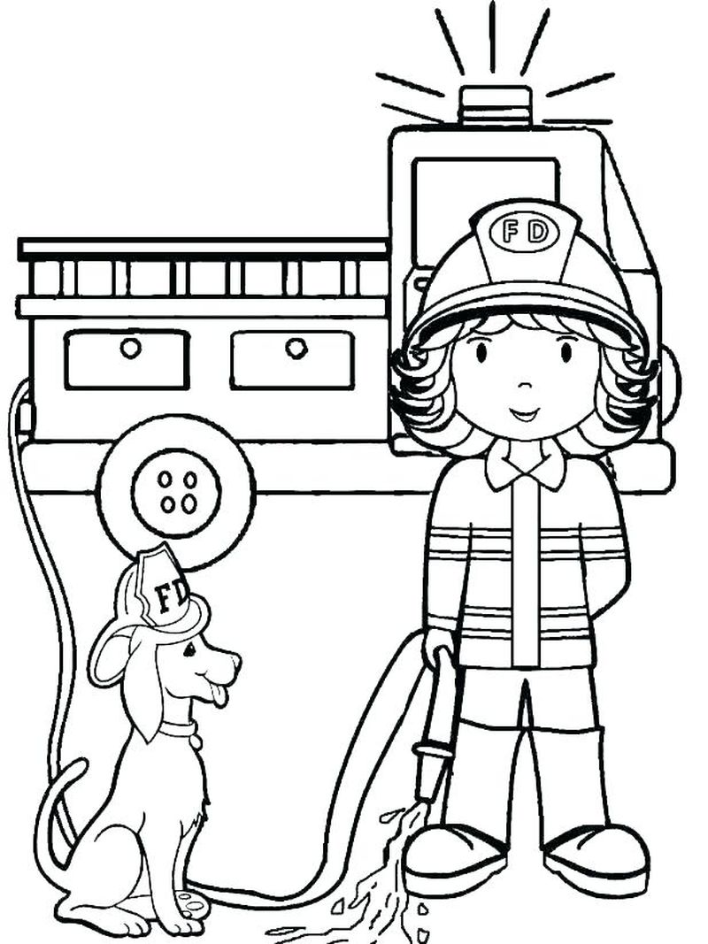 Fireman Sam Coloring Page - Printable Coloring Pages To Print