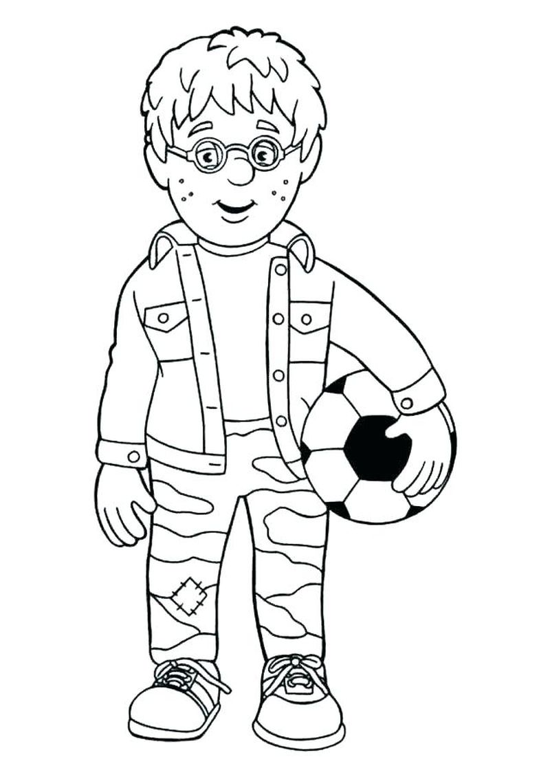Fireman Truck Coloring Page