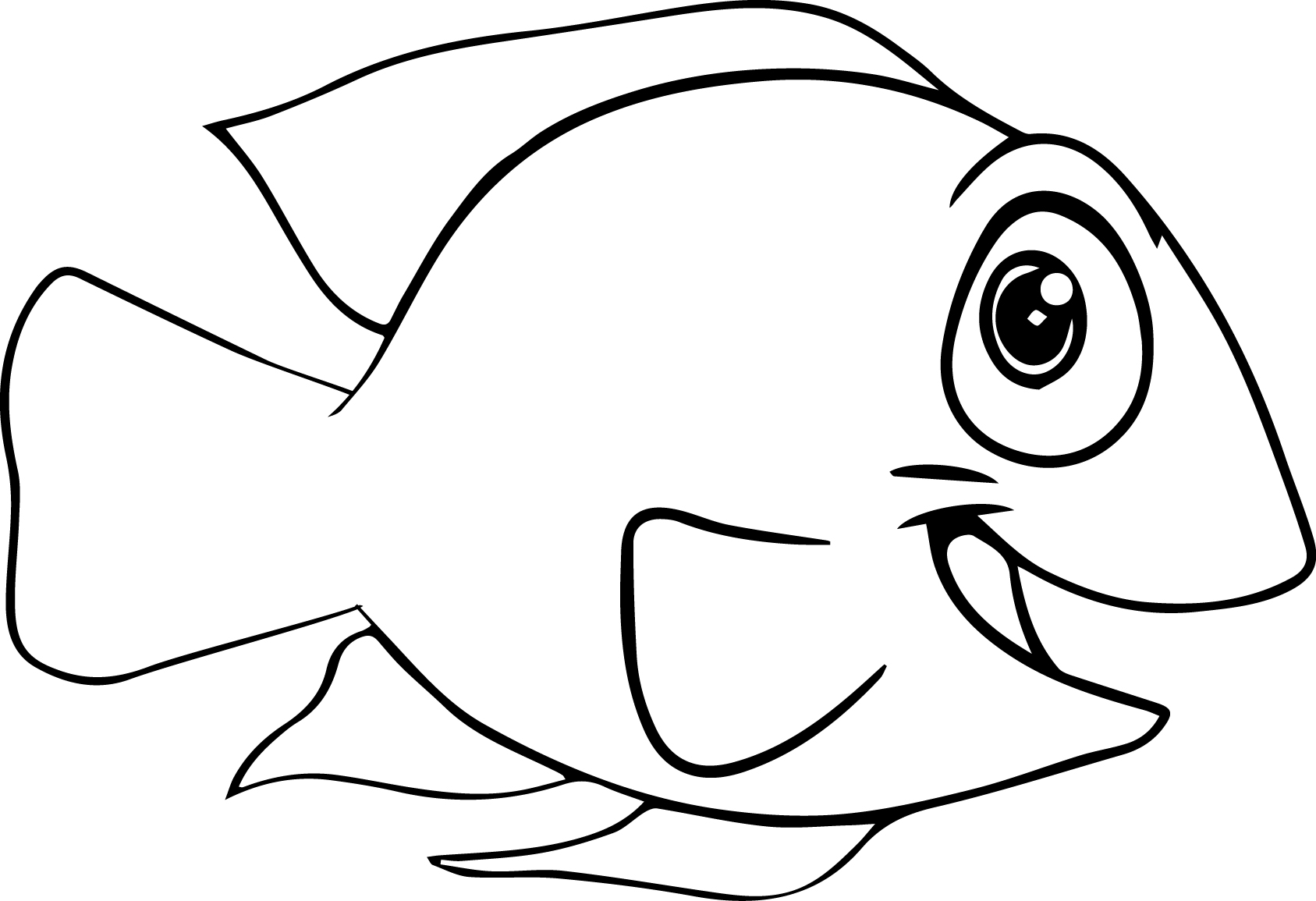 Fish Coloring Pages Easy