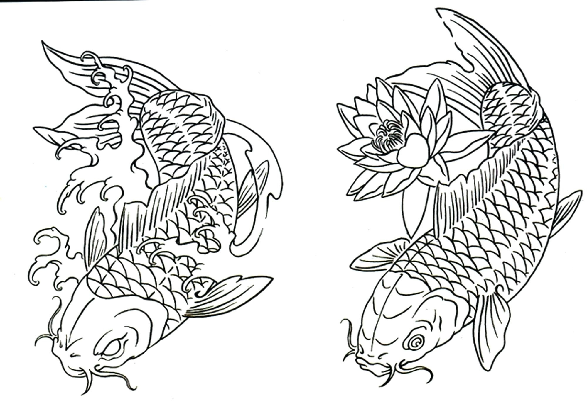 Fish Coloring Pages For Kindergarten