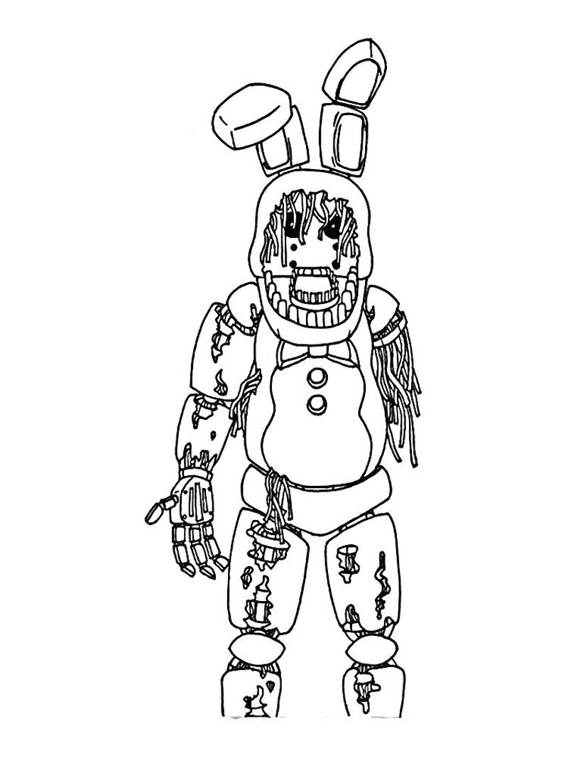 Five Nights At Freddys Coloring Pages Bonnie
