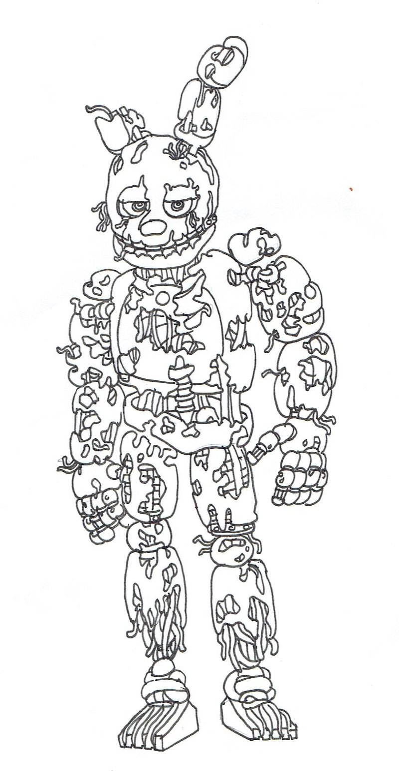 Five Nights At Freddys Coloring Pages Chica