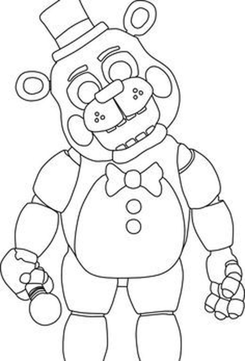 Five Nights At Freddys Coloring Pages Free