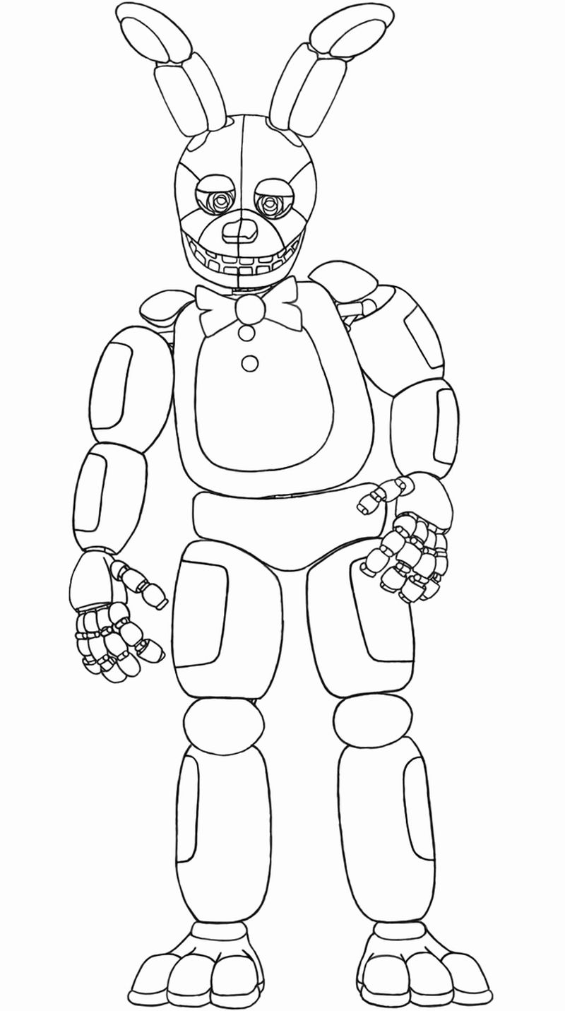 Five Nights At Freddys Coloring Pages Mangle