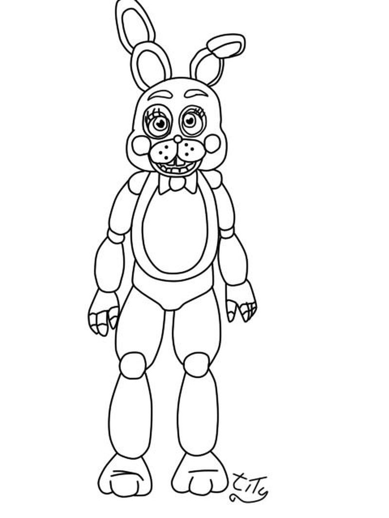 Five Nights At Freddys Coloring Pages Online Free