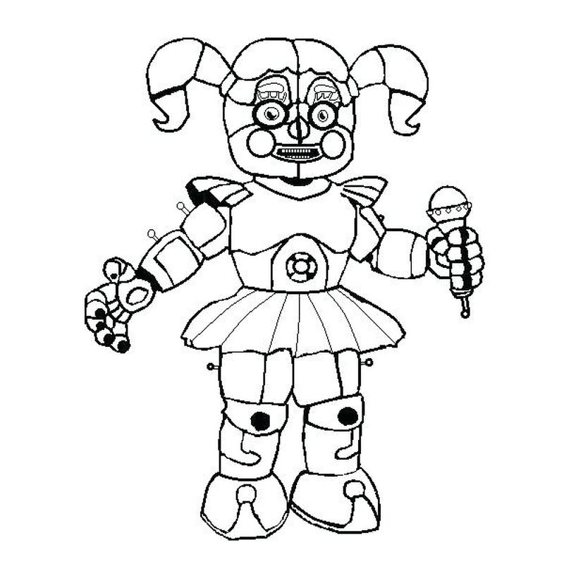 Five Nights At Freddys Coloring Pages Sister Location