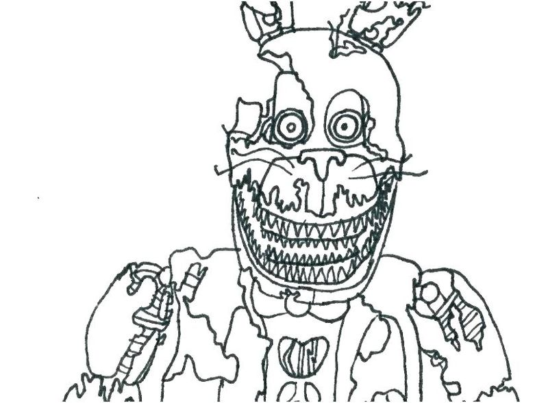 Five Nights At Freddys Coloring Pages To Print