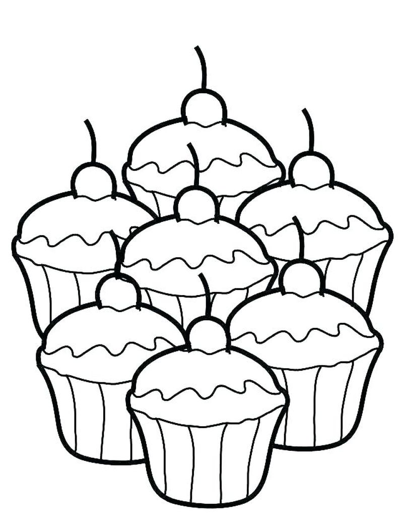 Five Nights At Freddys Cupcake Coloring Pages
