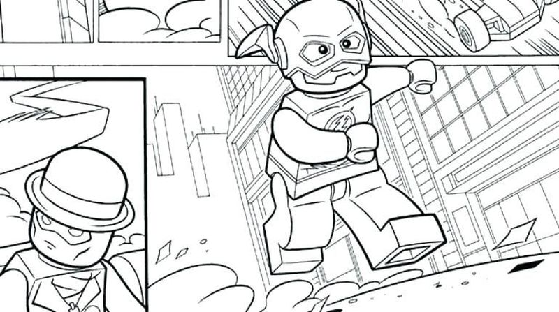Flash Cartoon Coloring Pages