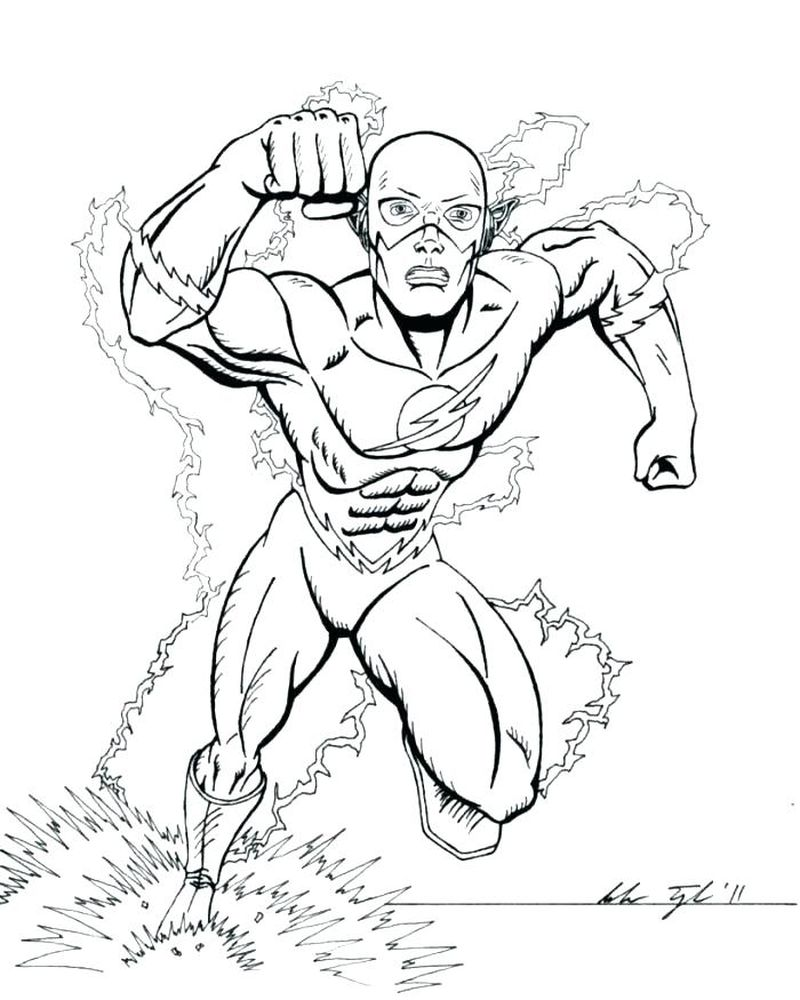 Flash Coloring Pages Free Pdf