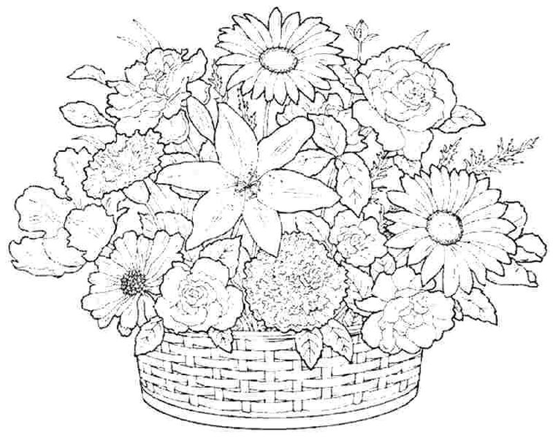 Flowers Coloring Pages For Kindergarten
