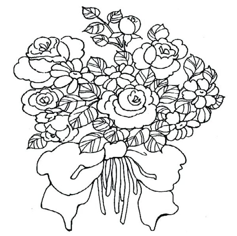 Flowers Coloring Pages For Preschoolers